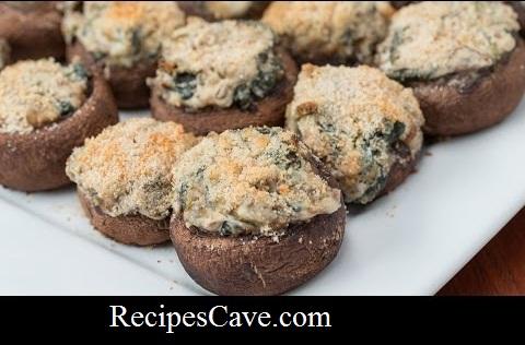 Creamy Spinach-Stuffed Mushroom Recipe