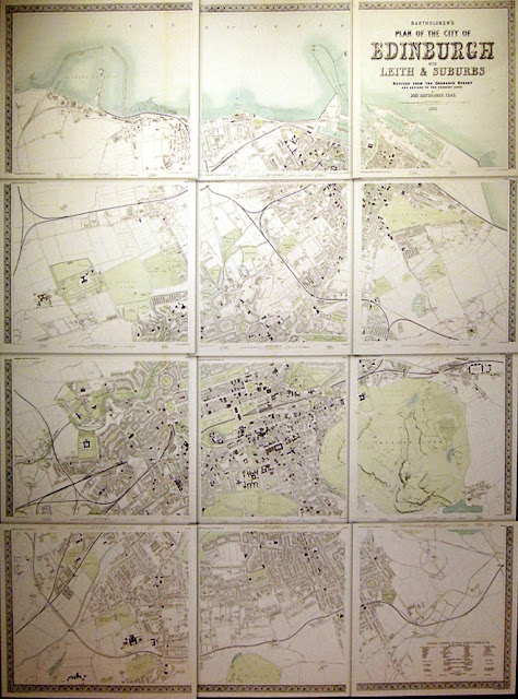 plan Edynburga 19 wiek