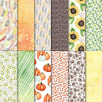 Use the Painted Autumn Designer Series Paper in a number of ways to accent and adorn all your scrapbooking, cardmaking and home decor projects.