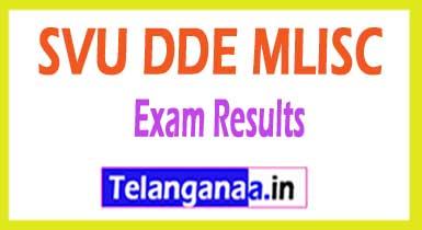 SVU DDE MLISC Results 2018