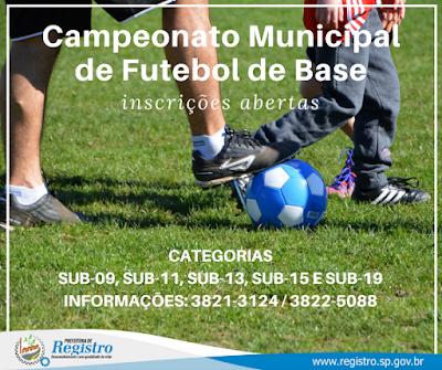 Abertas inscrições para os Campeonatos Municipais de Futsal de Base, Futebol de Base e Futebol Quarentão