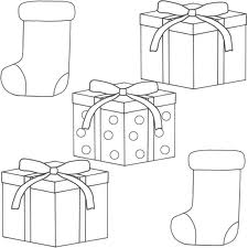 Christmas Gift Kids Coloring Printable Images