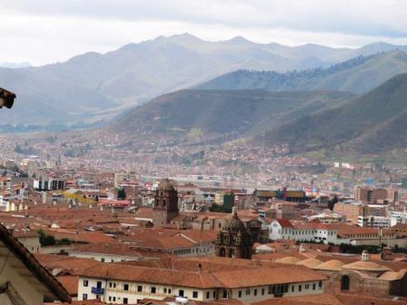 Cusco City with the Andes Mountains