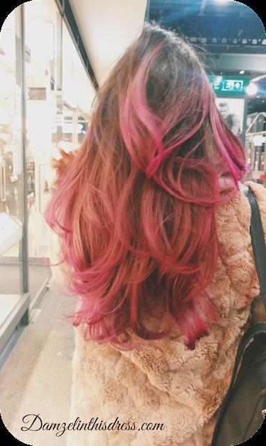 pink hair asian girl