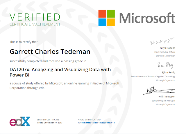 Power BI Cert - EdX.org