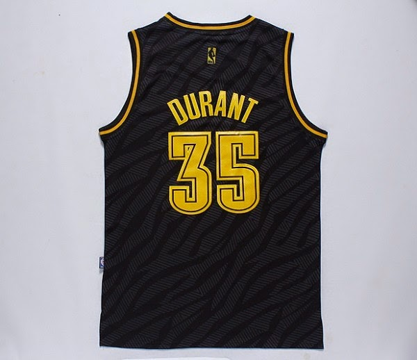 Mens Oklahoma City Thunder Kevin Durant adidas Black Precious Metals  Fashion Swingman Jersey f51067da9
