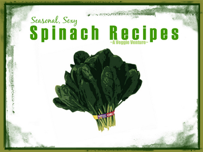 Tired of the same-old spinach? Find new inspiration in this collection of seasonal (and dare I say, sexy?) Spinach Recipes ♥ AVeggieVenture.com, savory to sweet, salads to sides, soups to supper, sandwiches to smoothies, simple to special. Many Weight Watchers, vegan, gluten-free, low-carb, paleo, whole30 recipes.