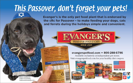 Evangers Pet Foods Helps You Prepare for Passover with your Pets