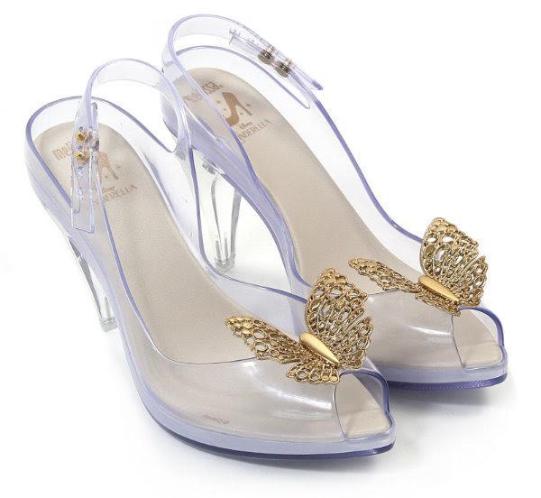 Disney Cinderella Melissa Lady Dragon shoes stock image on white background