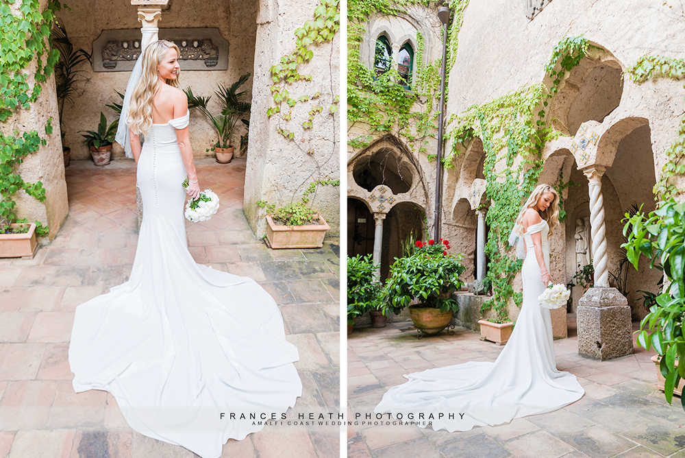 Bride portrait in Villa Cimbrone