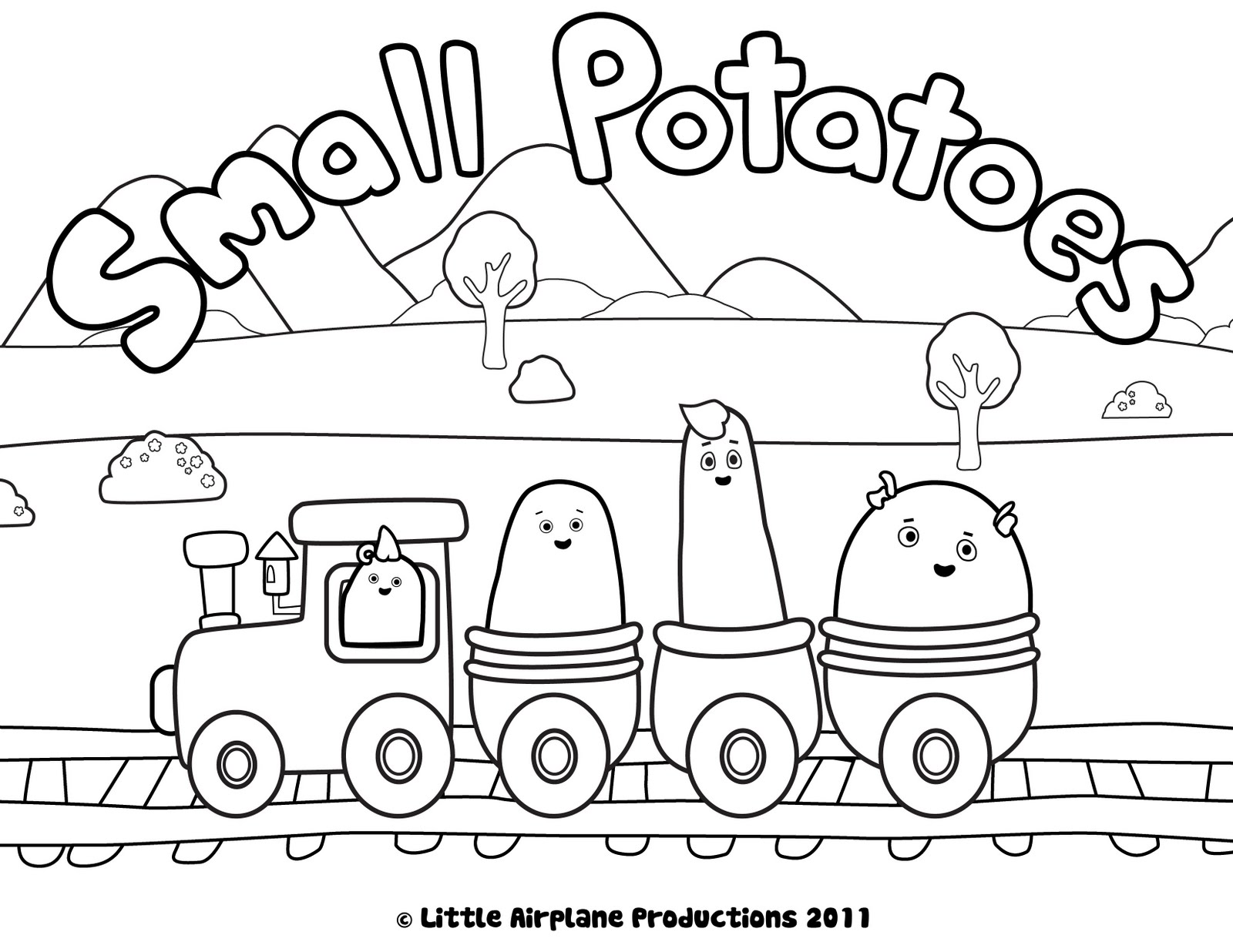 Mashed Potatoes Coloring Pages