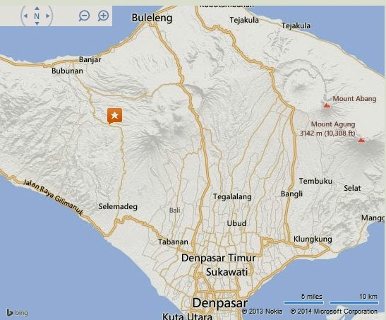 Batukau Mountain Bali Location Map,Location Map of Batukau Mountain Bali,Batukau Mountain Bali accommodation destinations attractions hotels resorts villas map reviews photos pictures