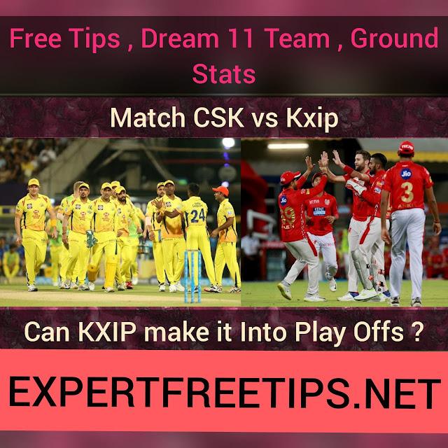 CSK vs KXIP Dream11 Predictions & Betting Tips, IPL 2018 Today Match Predictions
