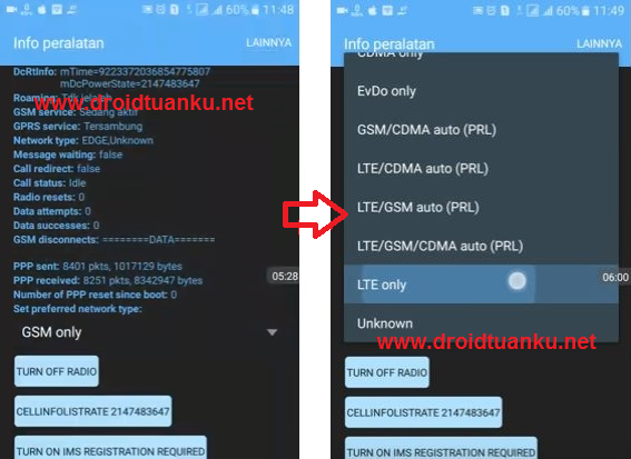Cara Mudah Mengaktfikan Sinyal 4G LTE Only Xiaomi Redmi Note 2
