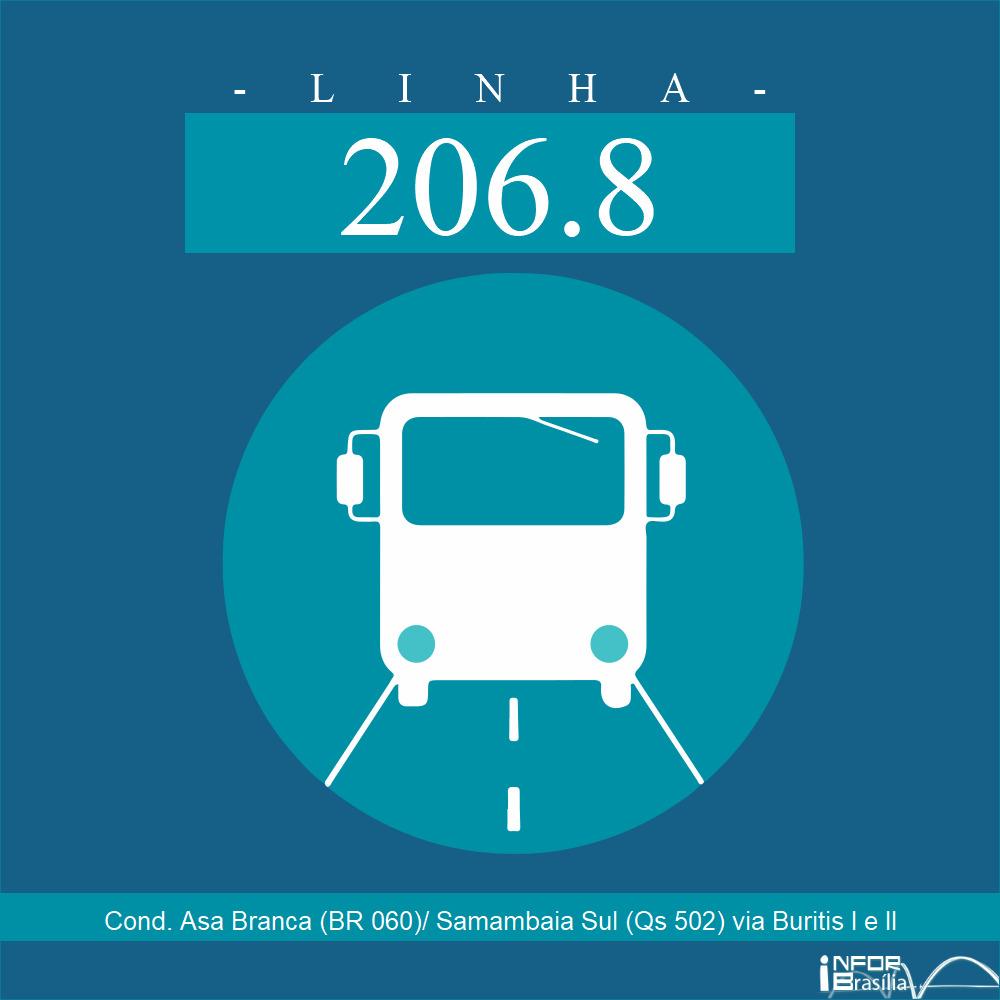 Horário de ônibus e itinerário 206.8 - Cond. Asa Branca (BR 060)/ Samambaia Sul (Qs 502) via Buritis I e II