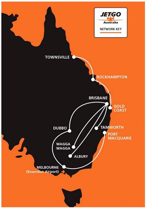 JetGo Route Network