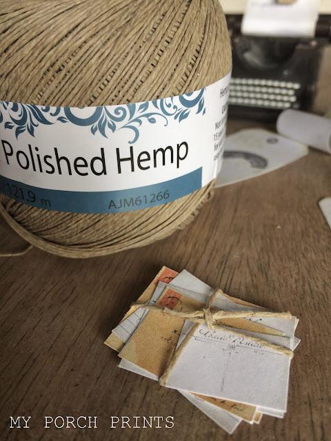 Mini Mail tied with hemp twine