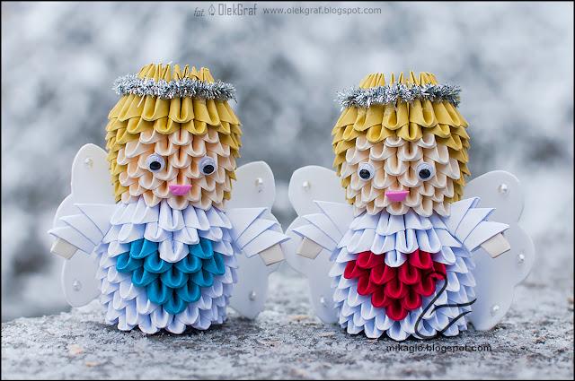 507. Aniołki z origami / 3d origami angels