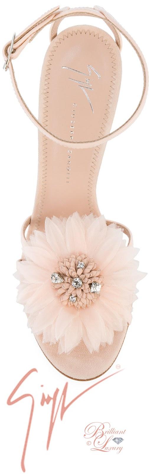 Brilliant Luxury ♦ Giuseppe Zanotti feather applique sandals