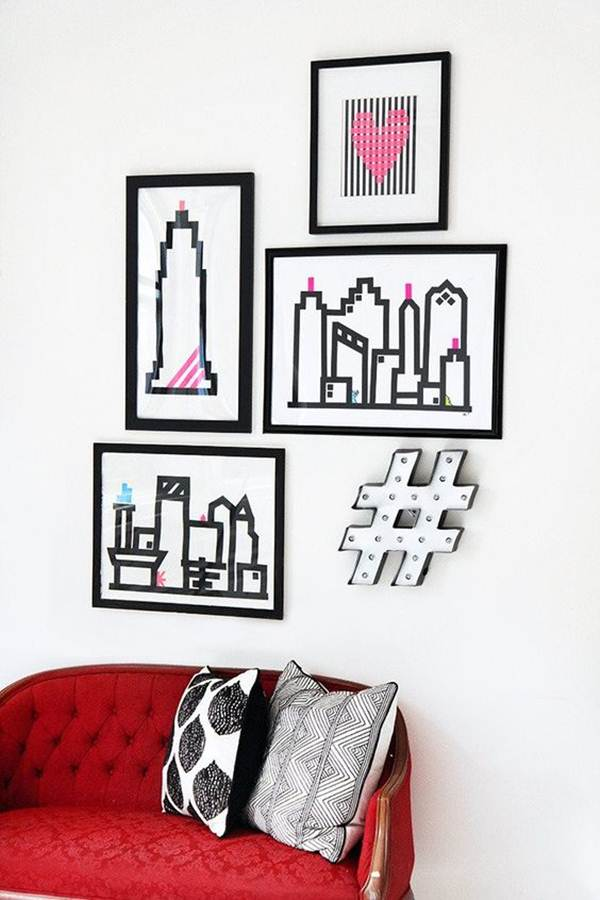 Ideas To Decorate Your Home With Washi Tape 5