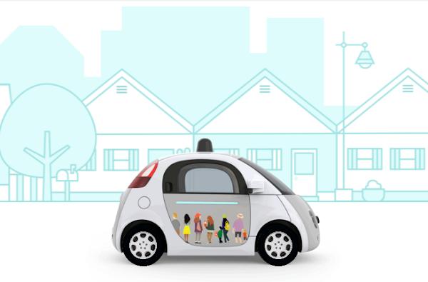 Google 自動車想像,摘自 Google 自動車官方部落格