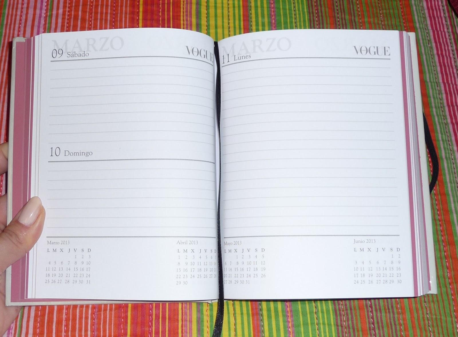 Envuelta en crema: Agenda Vogue 2013 por dentro (una ...