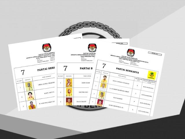 Daftar Calon Sementara Anggota DPRD Kota Bandung Pemilu 2019 dari Partai Berkarya