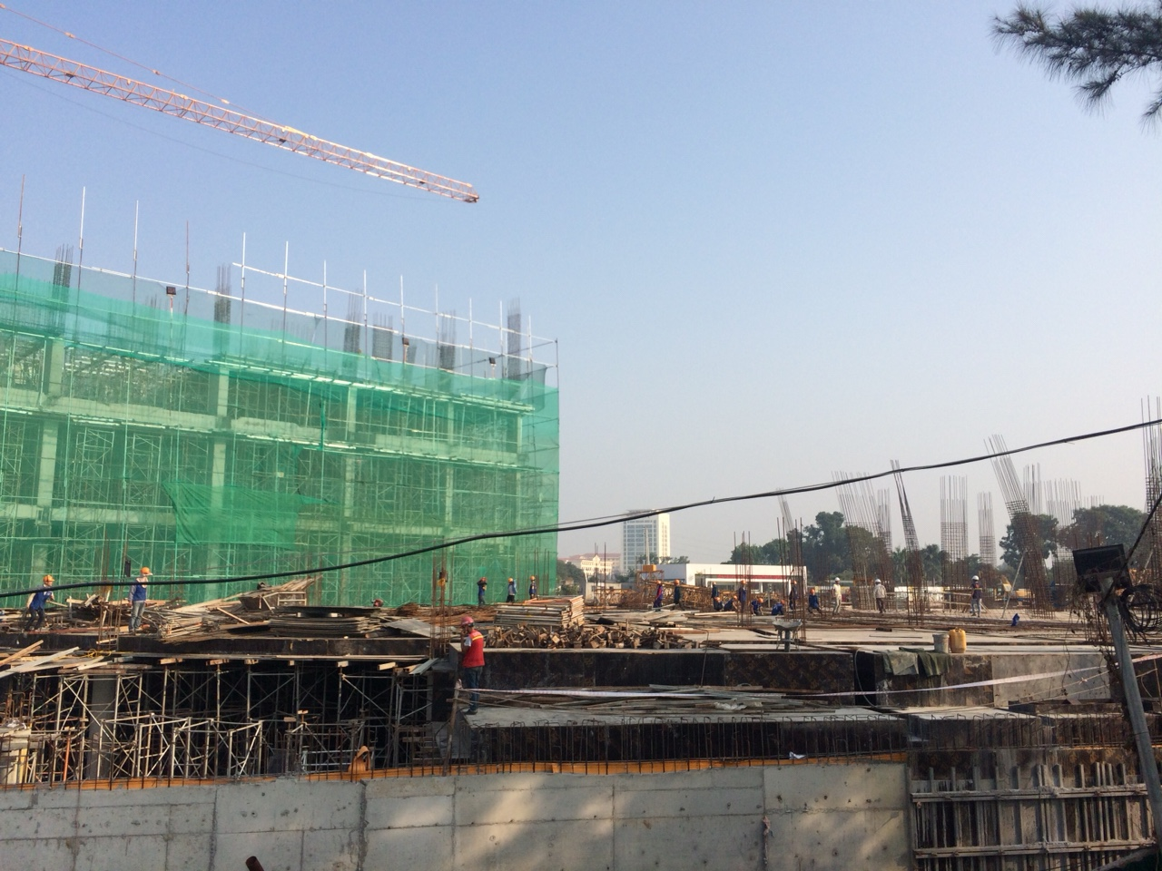 Tiến độ xây dựng thực tế tòa CT1A