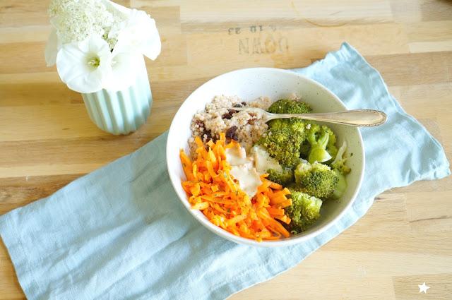 assiette végétale complète healthy food