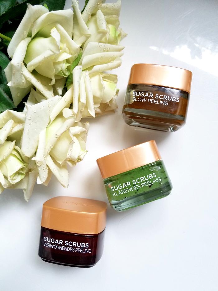 Review: L´Oréal Paris - Sugar Scrubs - Glow Peeling, Verwöhnendes Peeling, Klärendes Peeling für Gesicht und Lippen 1
