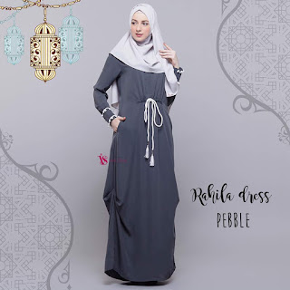 Gamis Valisha Rahila Dress Pebble