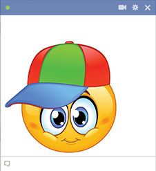 Boyish smiley with colorful hat