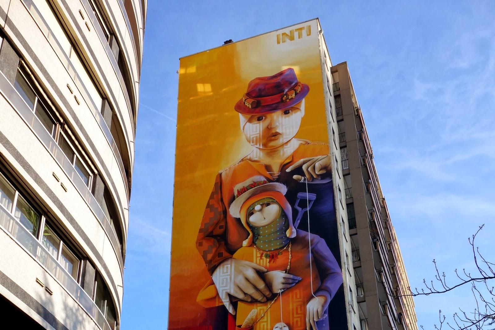 Street art les grandes fresques du parcours itinerrance mairie de paris 2014 xiii me - Galerie street art paris ...