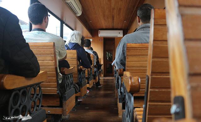 Interior do Vagão Panorâmico do Trem da Vale, Ouro Preto, MG