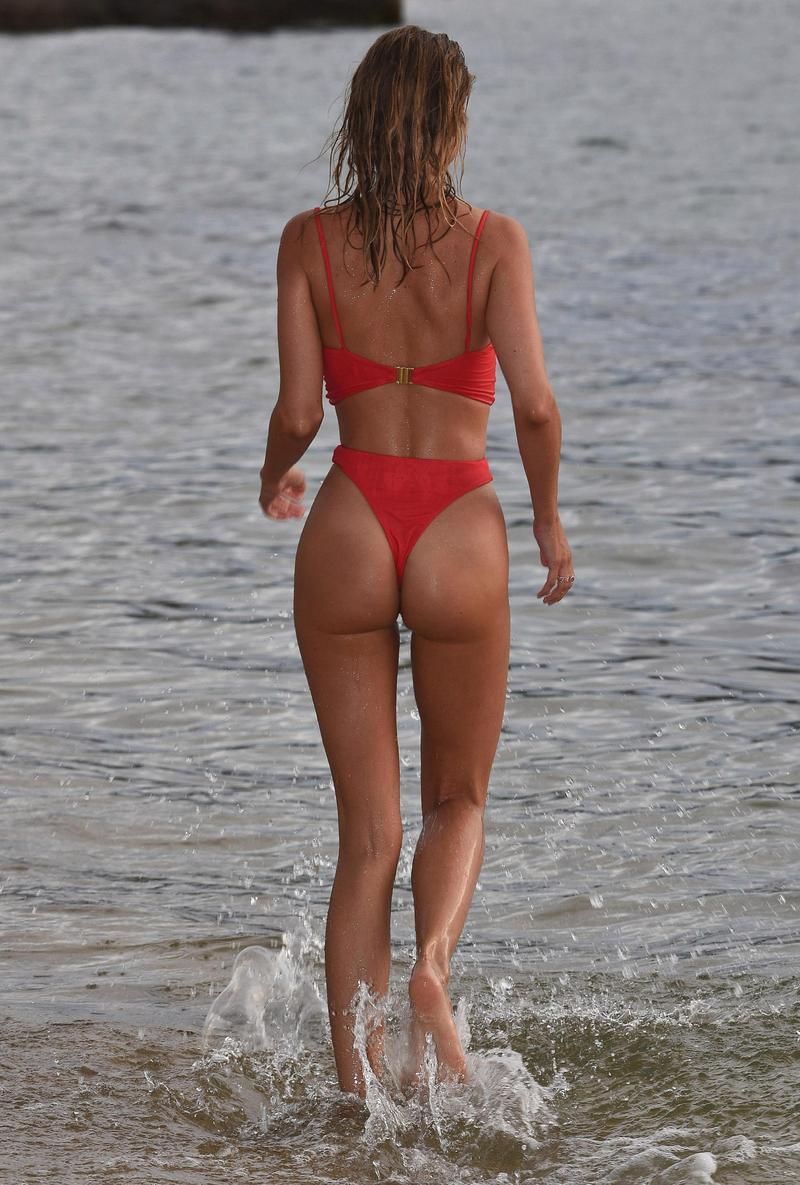 Kimberley Garner Booty in Red Bikini
