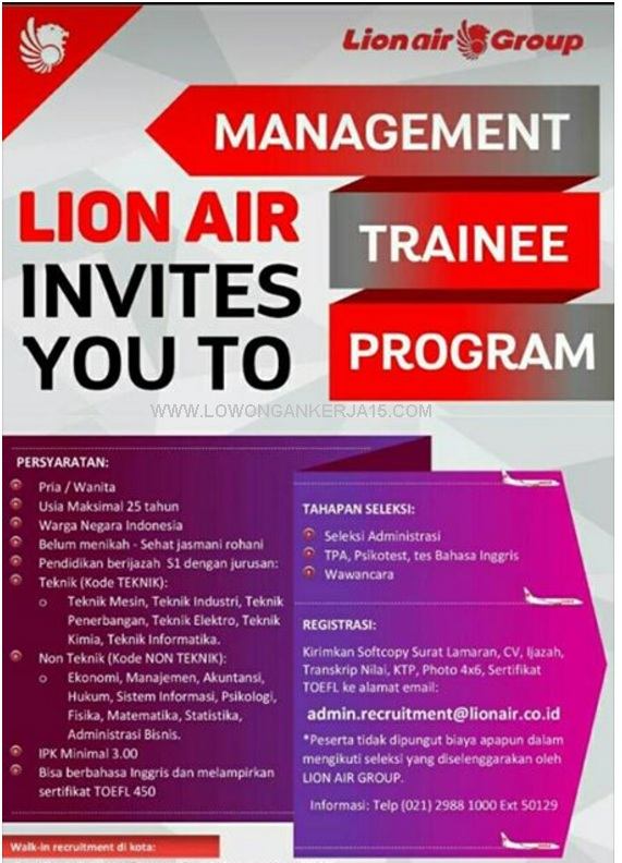 Loker Lion air Group