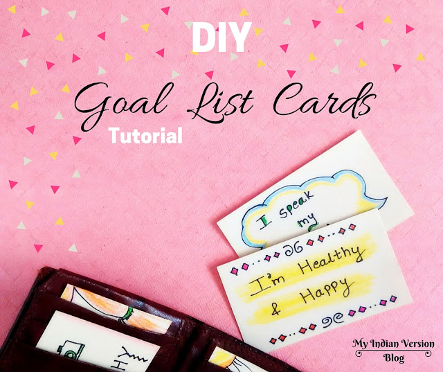 diy goal list cards with positive affirmations