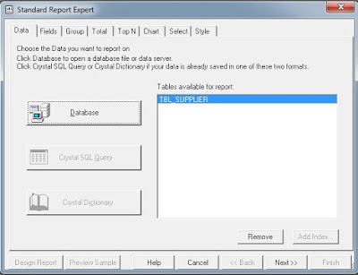 Cara Membuat Laporan Crystal Report Database Access ( .accdb )