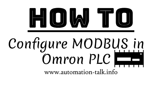 How to configure MODBUS in Omron PLC CP1E ~ Automation