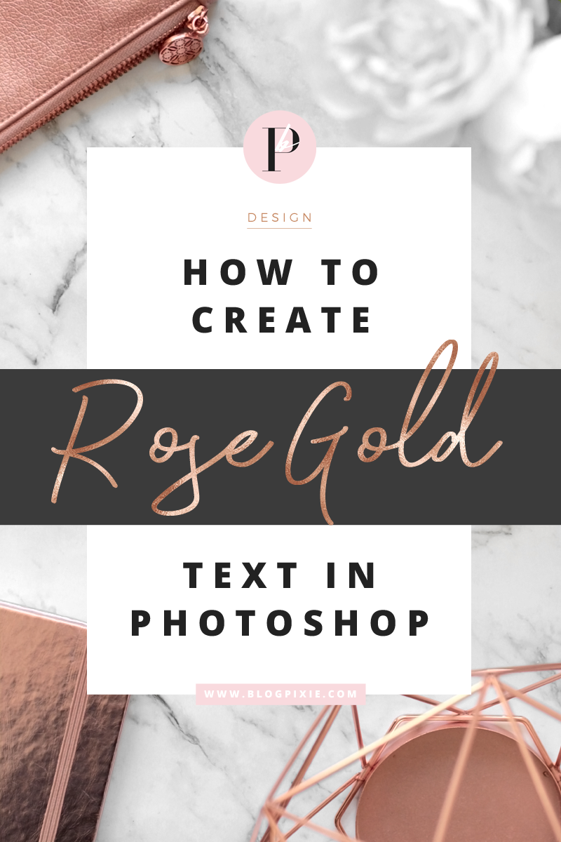 how to create rose gold foil text font photoshop