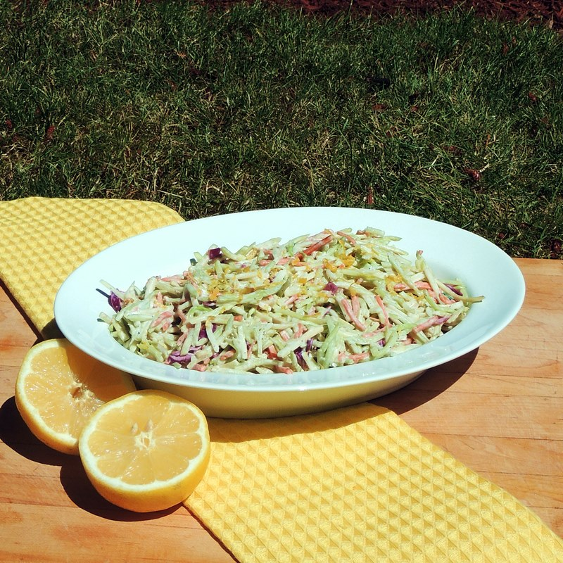 Lemony Broccoli Slaw