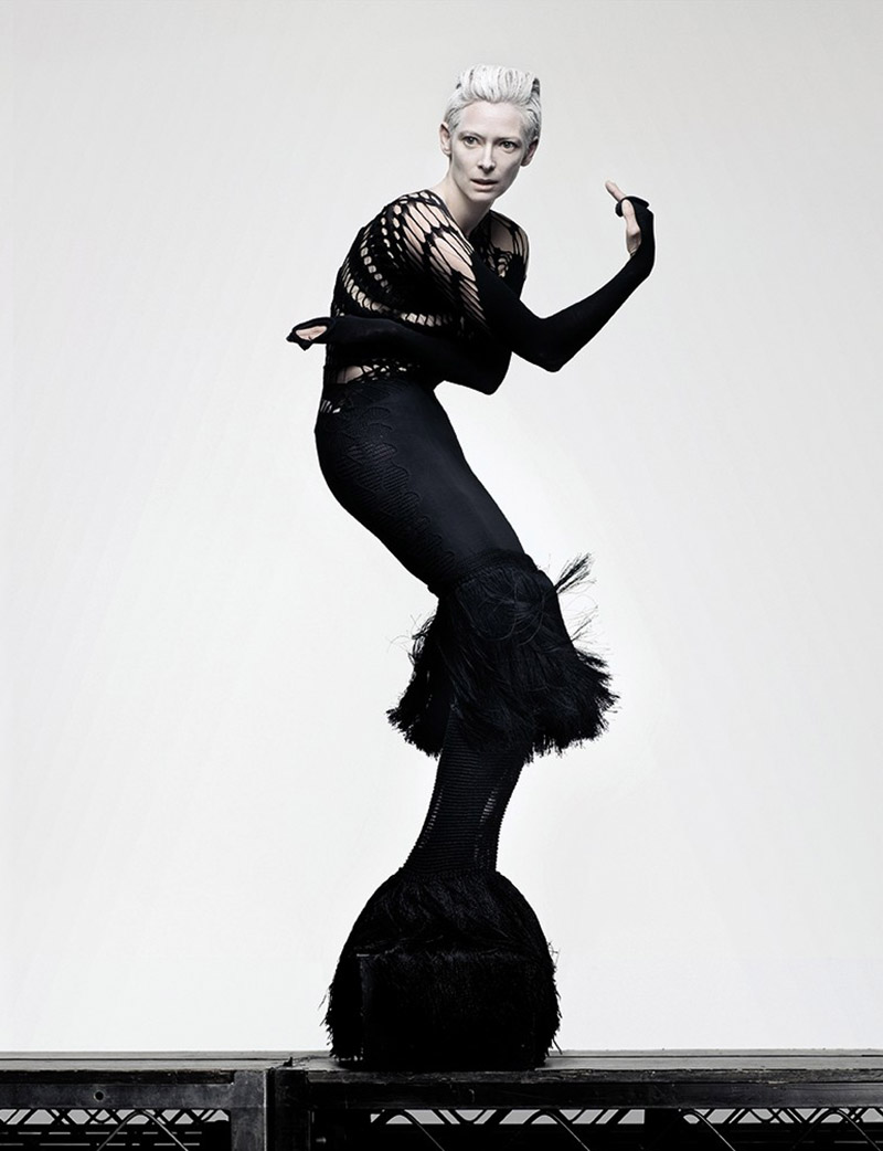 tilda swinton shot by craig mcdean