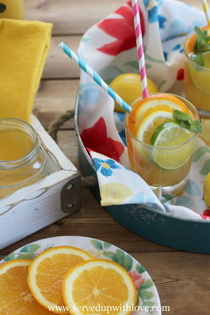 Sunshine Party Punch recipe from Served Up With Love