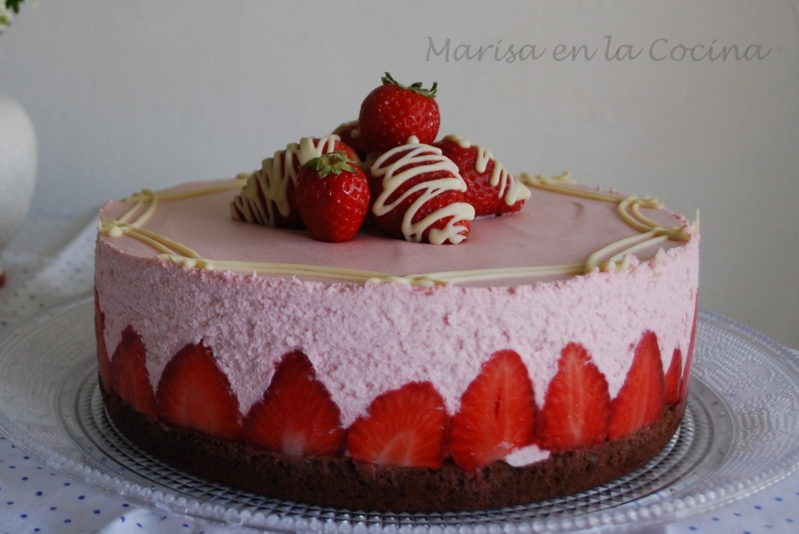 Marisa en la Cocina: Tarta Mouse de Fresas