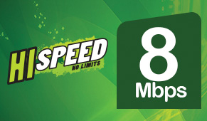 PTCL 8 Mmbps packages Info