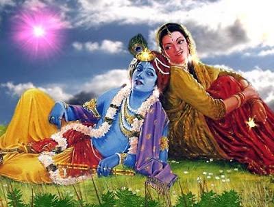 மனிதக் கண்களில் கண்னன் ராதை