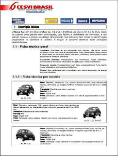 Manual de manutenção Ford KA