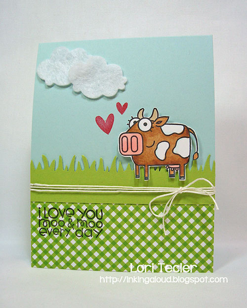 I Love You Moo and Moo Every Day-designed by Lori Tecler-Inking Aloud-stamps from Paper Smooches