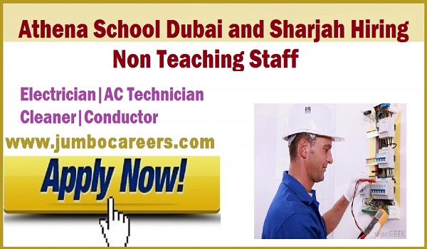 Male& Female jobs in Athena school, Non teaching staff jobs 2018,