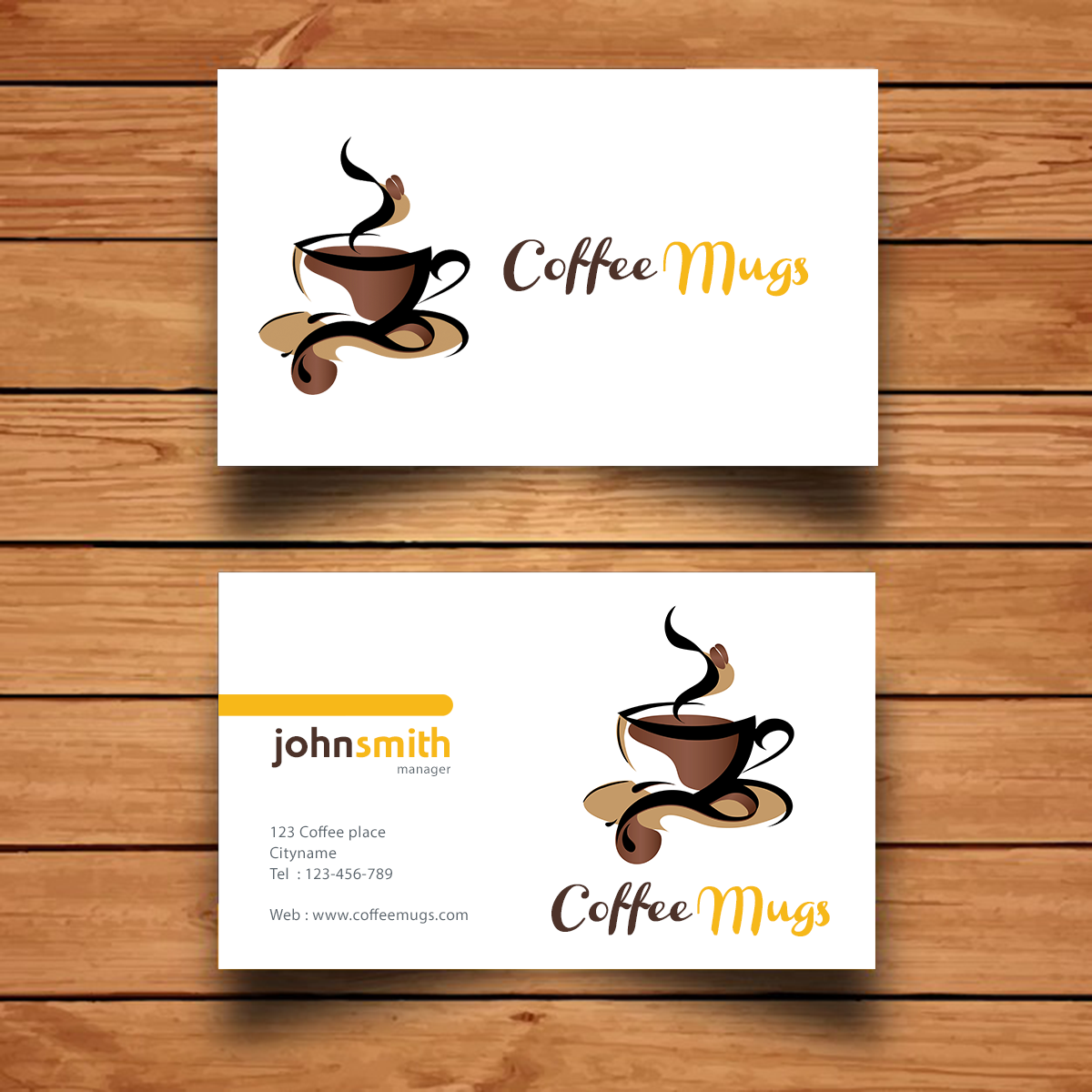 Coffee Mugs Visiting Card Design